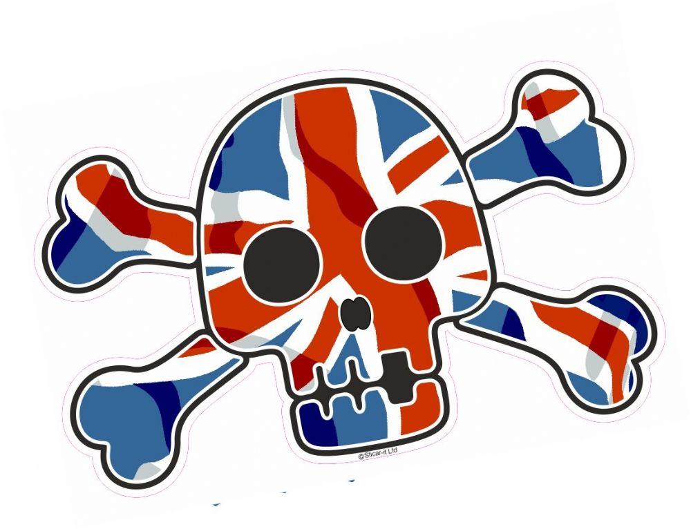 Pirate Style Skull Amp Crossbones With Union Jack British